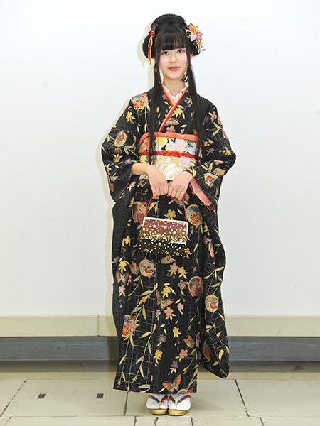 No.644 坂本みろく 振袖スナップ写真2