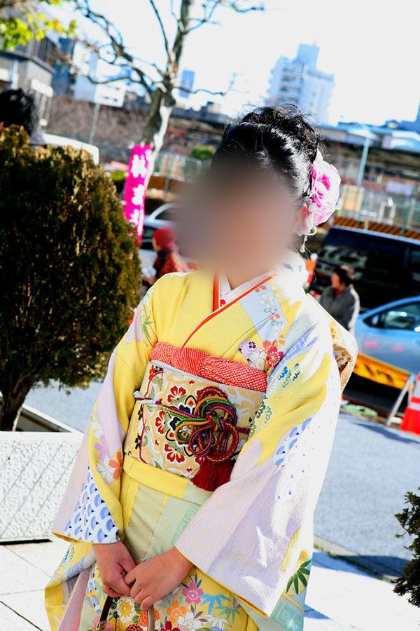No.027アスカ 振袖スナップ写真1
