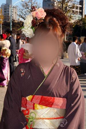 No.045はるか 振袖スナップ写真1
