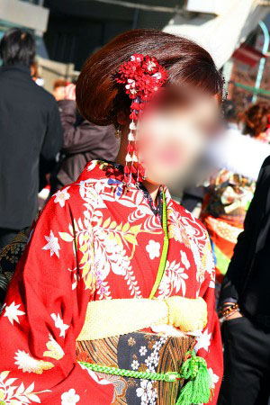 No.050みく 振袖スナップ写真1
