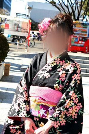 No.058ゆき 振袖スナップ写真1
