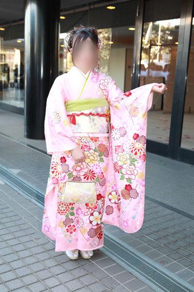 No.082ぴーち 振袖スナップ写真2