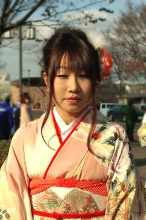 No.157くり 振袖スナップ写真1