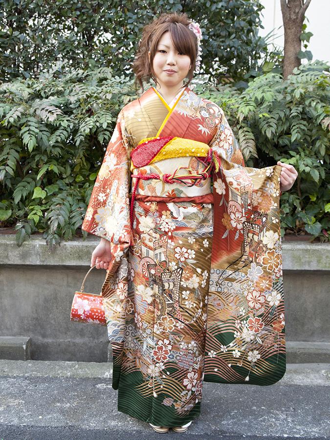 No.184大阪ガール7 振袖スナップ写真2