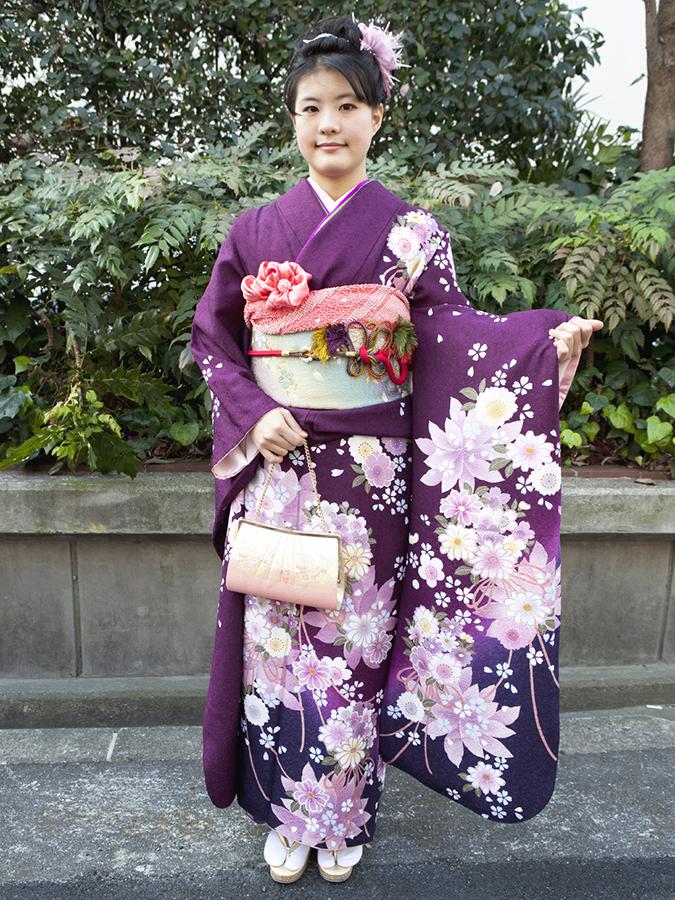 No.185大阪ガール8 振袖スナップ写真2