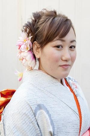 No.194大阪ガール17 振袖スナップ写真1