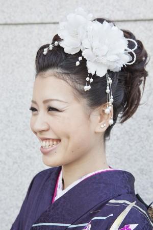 No.196大阪ガール19 振袖スナップ写真1