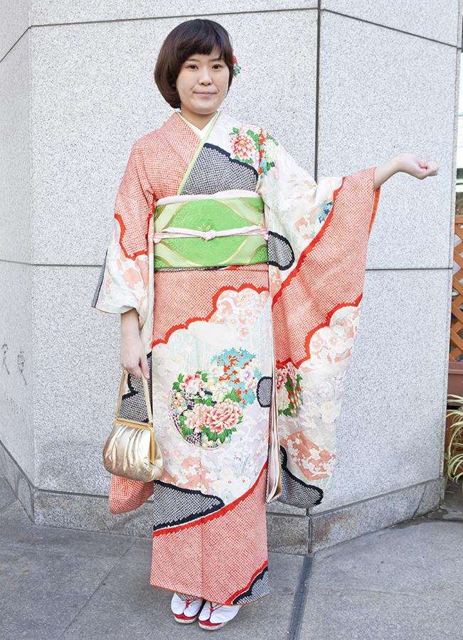 No.198大阪ガール21 振袖スナップ写真2