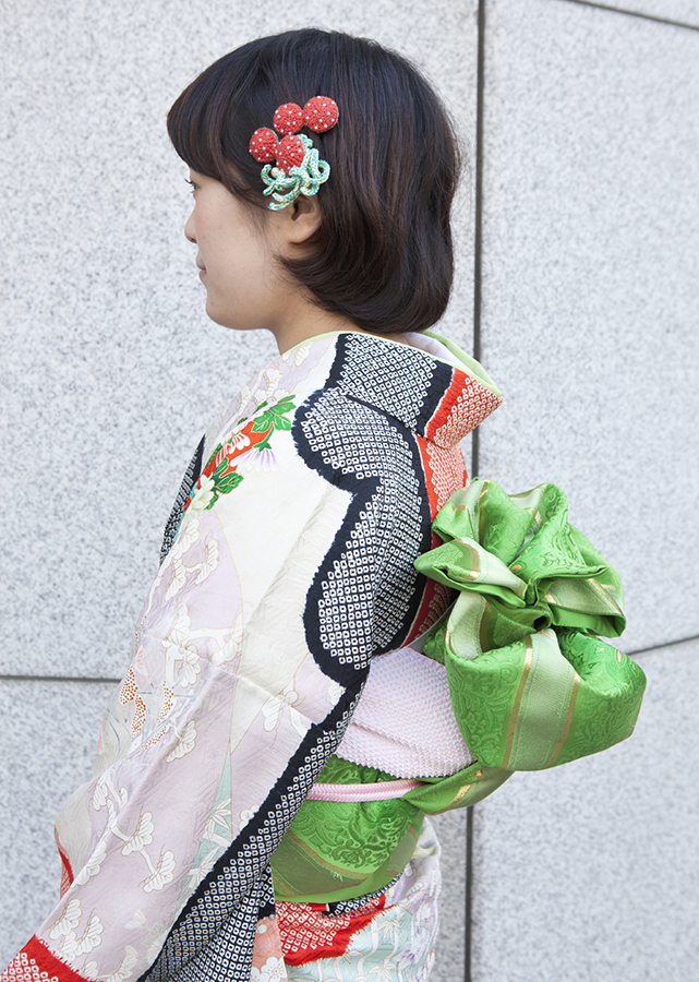 No.198大阪ガール21 振袖スナップ写真3