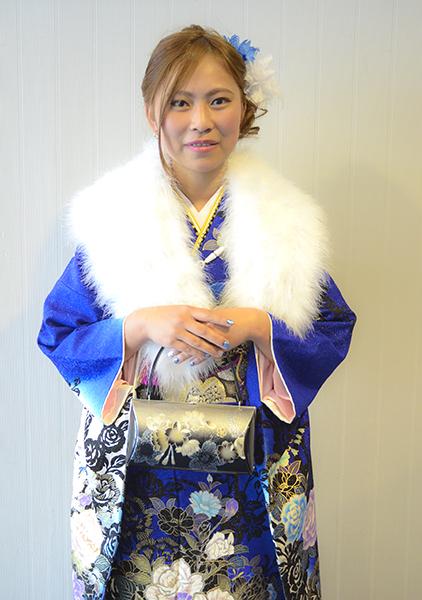 No.699 れんちゃん 振袖スナップ写真1