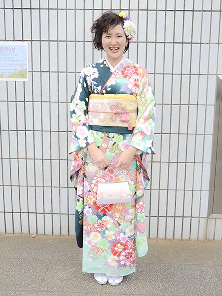 No.689 ゆみ 振袖スナップ写真2