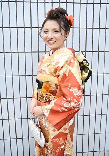No.685 みなみ 振袖スナップ写真1