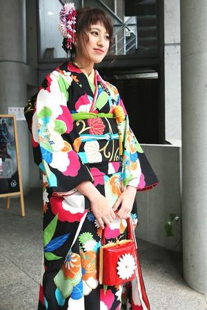 No.663 ちーちゃん 振袖スナップ写真1