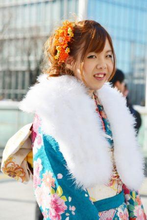 No.349ゆうか 振袖スナップ写真1