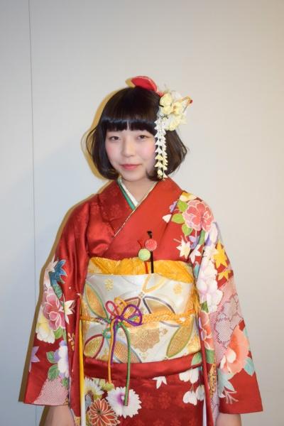 No.353ユリちょ 振袖スナップ写真1