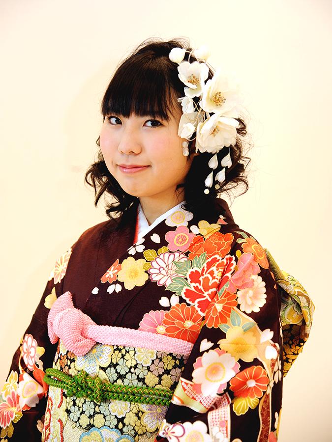 No.455えりかさま 振袖スナップ写真1