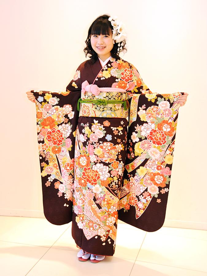 No.455えりかさま 振袖スナップ写真2
