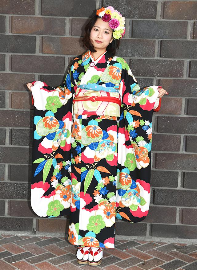 No.781わん 振袖スナップ写真3