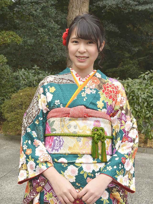 No.830おってぃん 振袖スナップ写真1