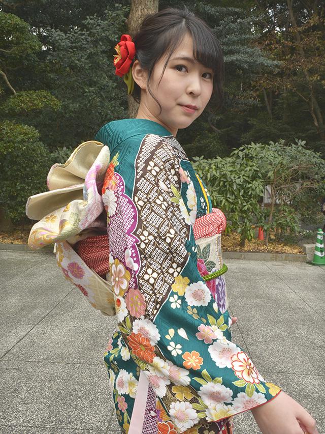 No.830おってぃん 振袖スナップ写真3