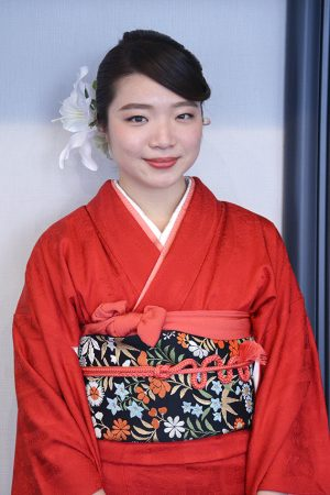 No.812ヤノ 振袖スナップ写真1